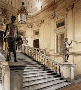 Pier Francesco Silvani - View of the Great Stairca..