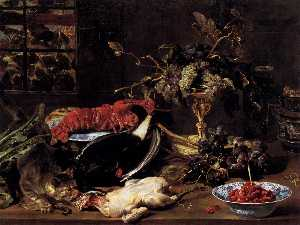 Frans Snyders - Still-Life with Crab, Pou..