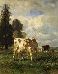 Constant Troyon - Cows in the Field