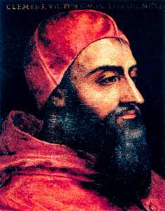 Agnolo Bronzino - Portrait of Pope Clement ..