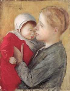 Jozsef Rippl Ronai - Mother with Child