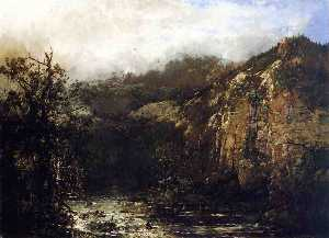 William Louis Sonntag - A Mountain Stream from th..