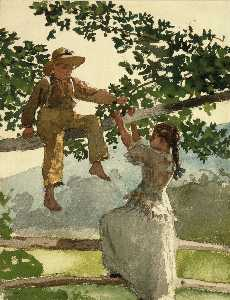 Winslow Homer - On the Fence (also known ..
