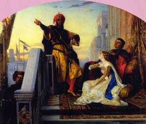 Alexandre Cabanel - Othello Relating His Batt..