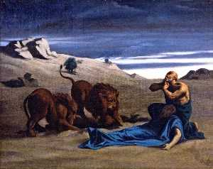 Alexandre Cabanel - Paul the First Hermit wit..