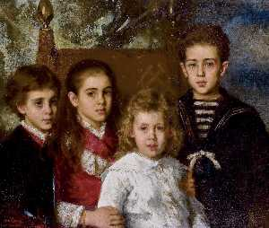 Alexei Alexeievich Harlam.. - Portrait of the children ..