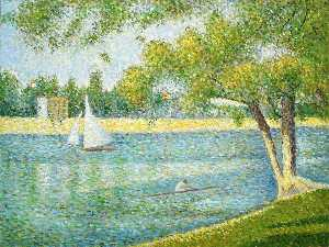 Georges Pierre Seurat - The river Seine at La Gra..