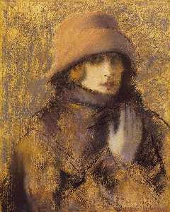 Jozsef Rippl Ronai - Woman in Red Hat