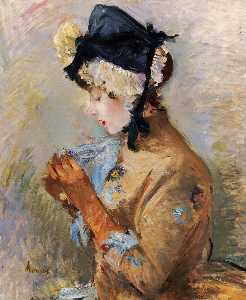 Berthe Morisot - Woman Wearing Gloves (als..