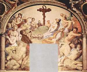 Agnolo Bronzino - Adoration of the Cross wi..