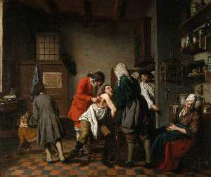 Jan Josef Horemans The El.. - Nterior With A Surgeon An..
