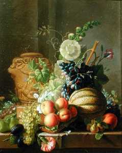 Jean Louis Prevost - Still Life With Fruit On ..