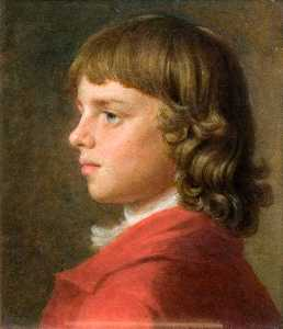 John Russell - Portrait Of A Boy In A Re..