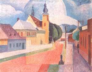 Janos Kmetty - View Of Nagybánya
