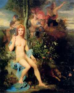 Gustave Moreau - Apollo and the Nine Muses