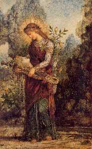 Gustave Moreau - Thracian Girl Carrying th..