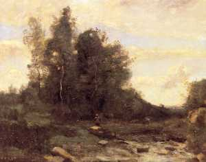 Jean Baptiste Camille Corot - Le torrent pierreaux