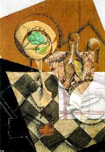 Juan Gris - Fruit dish and carafe - -