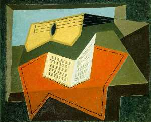 Juan Gris - Guitar and music paper - ..