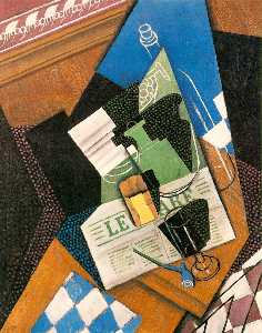 Juan Gris - Water-bottle, Bottle, and..