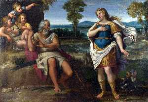Annibale Carracci - Erminia takes Refuge with..