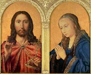Quentin Massys - Diptych - Christ and the ..