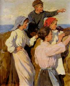 Stanhope Alexander Forbes - Study for the fleet in si..