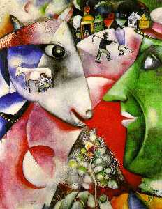 Marc Chagall - I and the Village, Moma N..