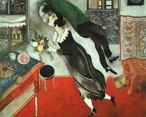 Marc Chagall - The Birthday, oil on canv..