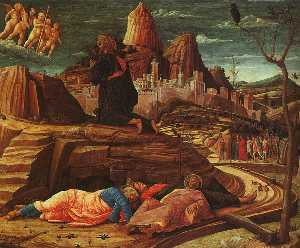 Andrea Mantegna - The Agony in the Garden, ..