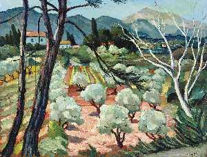 Marcel Dyf - Trees at Provence, (1930)