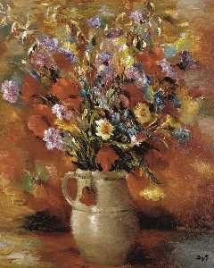 Marcel Dyf - Vase of Flowers, (1935)