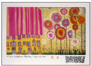 Friedensreich Hundertwass.. - The Trees Are the Flowers..