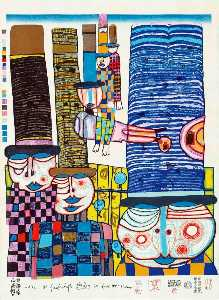 Friedensreich Hundertwass.. - Tennos Fly With Hats