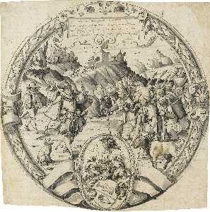 Christoph Murer - A roundel with a historic..