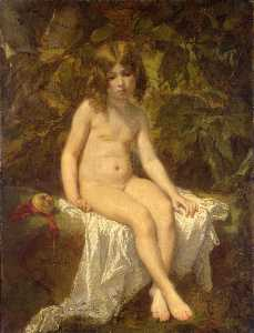Thomas Couture Senlis Vil.. - Little Bather