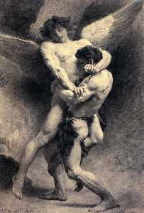 Léon Joseph Florentin Bon.. - Jacob Wrestling with the ..