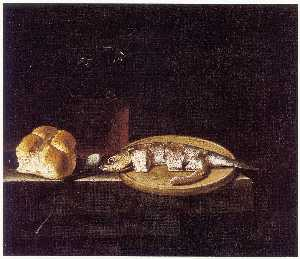 After Adriaen Coorte - English Still Life with H..
