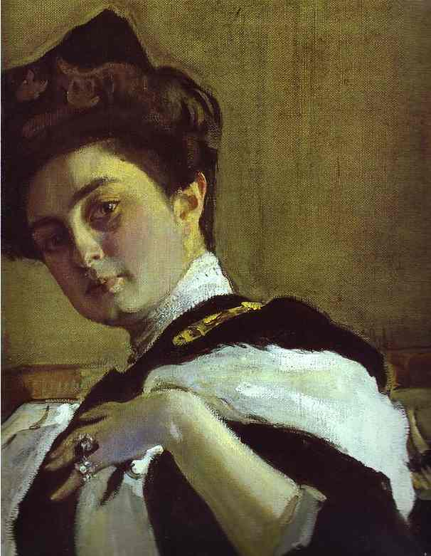 Portrait of Henrietta Girshman. Detail by Valentin Alexandrovich Serov (1865-1911, Russia) | Reproductions Valentin Alexandrovich Serov | ArtsDot.com