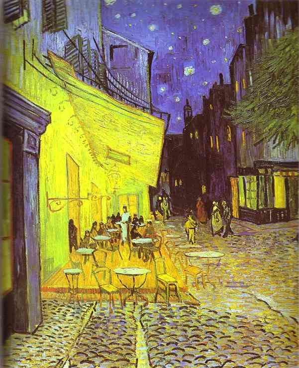 Café Terrace at Night, Oil by Vincent Van Gogh (1853-1890, Netherlands)