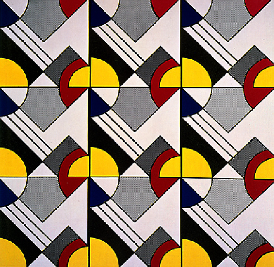 Modular Painting with Nine Panels, 1968 by Roy Lichtenstein (1923-1997, United States) | Art Reproduction | ArtsDot.com