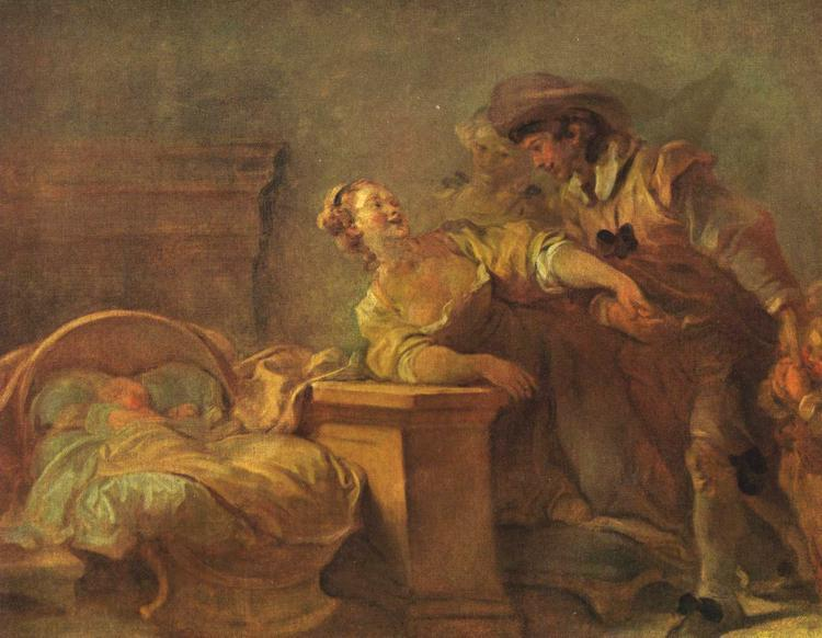 The Cradle of the Happy Family by Jean-Honoré Fragonard (1732-1806, France) | Museum Quality Copies Jean-Honoré Fragonard | ArtsDot.com