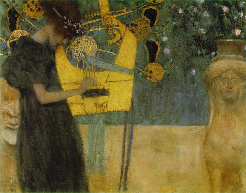 Music I, 1895 by Gustav Klimt (1862-1918, Austria) | Paintings Reproductions Gustav Klimt | ArtsDot.com