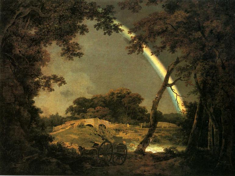 Ca s'est passé en septembre ! Joseph-Wright-of-Derby-Landscape-with-a-Rainbow