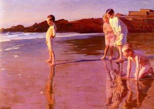 Correa Benito Rebolledo - Children On The Beach At ..