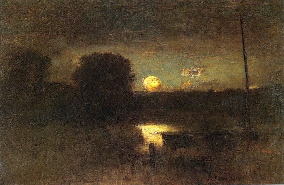 george inness early moonrise - 909×594