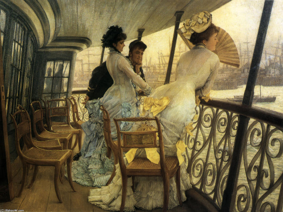 The Gallery of H.M.S. `Calcutta` (Portsmouth) by James Jacques Joseph Tissot (1836-1902, France) | Painting Copy | ArtsDot.com