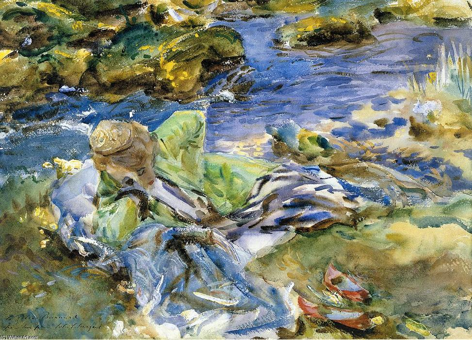 Turkish Woman by a Stream, 1907 by John Singer Sargent (1856-1925, Italy) | Painting Copy | ArtsDot.com