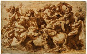 Prospero Fontana - THE BATTLE OF THE CENTAUR..