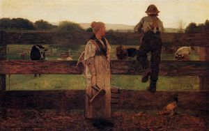 Winslow Homer - Milking Time